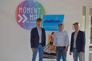 Dirk und Lutz Molitor spenden 7000 Euro an die HHO (mit Heiner Böckmann)